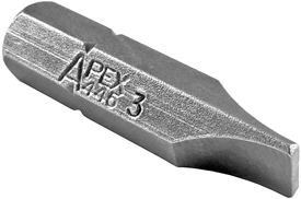 Apex® 1/4'' Hex Insert Slotted Bits