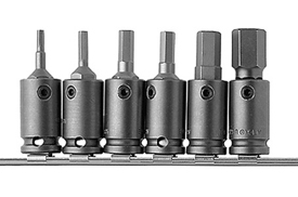 Apex® 3/8'' And 1/2'' Socket Head (Hex-Allen) Bit And Adapter Sets, Metric