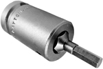 Apex 1/2'' Socket Head (Hex-Allen) Bits With Square Drive Adapters, Metric