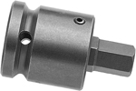 Apex 1/2'' Square Drive Adapters With (Hex-Allen) Socket Head Bits, SAE