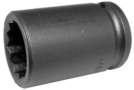 3/8'' Square Drive Sockets, Metric, 6 Point And 12 Point, Short And Standard Length