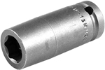 Apex 1/2'' Square Drive Sockets, Metric, Magnetic, Long Length, 6 Point and Double Hex
