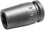 Apex 1/4'' Square Drive Sockets, Metric, Standard Length