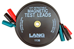 1135 Lang Magnetic Retractable Test Leads- 3 Leads X 10 feet