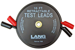 1140 Lang Retractable Test Leads - 2 Leads X 10 feet