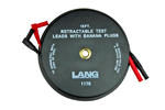 1175 Lang Retractable Test Leads - 2 Leads X 15 Feet With Banana Plugs