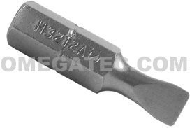 H3212A Zephyr 1/4'' Slotted Hex Insert Bits, For Machine Screws
