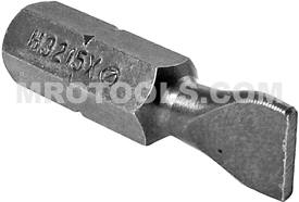 H3215X Zephyr 1/4'' Slotted Hex Insert Bits, For Self Tapping Screws
