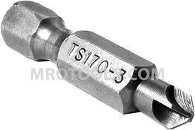 TS170-3 Zephyr 1/4'' Torq-Set #3 Hex Shank Power Drive Bits