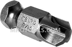 TS170-7/16 Zephyr 7/16'' Torq-Set #7/16'' Hex Shank Power Drive Bits