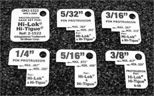 OM2-1522 Standard Hi-Lok / Hi-Tique Protrusion Gauge Black Markings