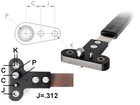 NPJ518RG Single Wing Standard Nut Plate Jig (SWS)