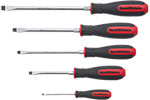 GEARWRENCH 80053 Slotted Dual Material 5 Piece Screwdriver Set