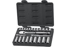 GEARWRENCH 80559 3/8'' Drive Metric Standard and Deep Mechanics 24 Piece Tool Set, 6 and 12 Point