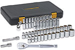 GEARWRENCH 80700P Mechanics 49 Piece Tool Set, 1/2'' Drive