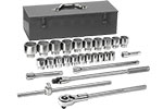 GEARWRENCH 80880 3/4'' Drive SAE 27 Piece Mechanics Tool Set, 12 Point
