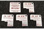 OM2-1522HST-2 Large Diameter Hi-Lite Protrusion Gauge, Red Markings