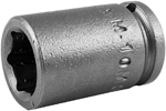 Apex 1/4'' Square Drive Sockets, Metric, Magnetic, Standard Length