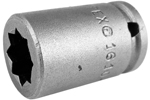 Apex 1/4'' Square Drive Sockets, SAE, For Square Nuts (Single Square, Double Square)