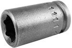 Apex 1/4'' Square Drive Sockets, SAE, Magnetic, Standard Length