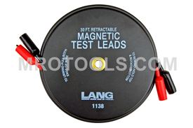 1138 Kastar Magnetic Retractable Test Leads - 2 Leads X 30 feet