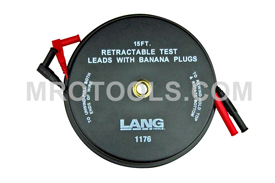 1175 Kastar Retractable Test Leads - 2 Leads X 15 Feet With Banana Plugs