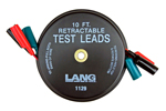 1129 Lang Retractable Test Leads - 3 Leads X 10 feet
