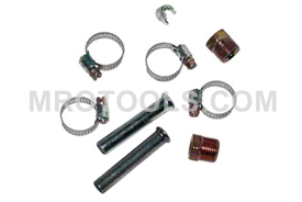 74455 Kastar Tubing Kit 3/8'' Tube With Inverted Flare Nuts and Hose Clamps
