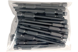 S326-00X-50PK 50 Piece 1/4'' Slotted Power Drive Bit Pack