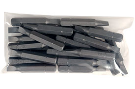 S445-1-15X-25PK 25 Piece 1/4'' Slotted Insert Bit Pack