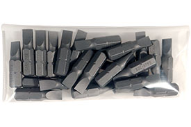 S445-20X-25PK 25 Piece 1/4'' Slotted Insert Bit Pack - Limited Clearance