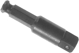 Z09SH-1/2-8 Zephyr Extension, 7/16'' Hex to 1/2'' Square, Pin-Type Retainer