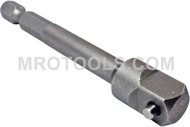 Z10SH-3/8-3 Zephyr Extension, 1/4'' Hex to 3/8'' Square, Pin-Type Retainer