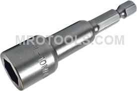 Z10MSHL-10MM Zephyr Metric Magnetic Nut-Setter, 1/4'' Male Power Shank
