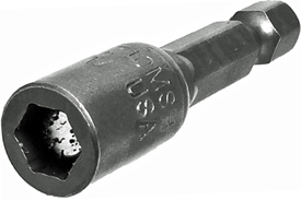 Z10MSHS-3/8 Zephyr Magnetic Nut-Setter, 1/4'' Male Hex Insert Shank