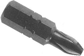 ZEPHYR D1232AAR #2 Phillips Removal Insert Bit, ACR, 5/16'' Hex Drive