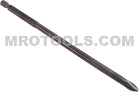 E1101AA6RI Zephyr 1/4'' Phillips #1 Installation Power Drive Bits, ACR, For Machine Screws