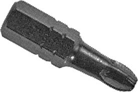 ZEPHYR PZ1223X Zephyr 1/4'' Pozidriv #3 Hex Shank Insert Bits, For Self Tapping Screws