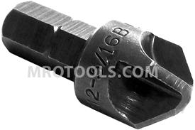 ZEPHYR TS212-5/16B #5/16 Torq-Set Bullnose Insert Bit, 1/4'' Hex Shank