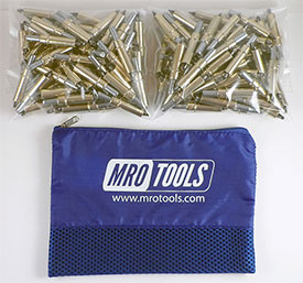 K2S450-3/16 Set of 450 3/16 Standard Plier Operated Cleco Fasteners w/ Polyester Carry Bag