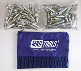 K2S200-3/32 Set of 200 3/32 Standard Plier Operated Cleco Fasteners w/ Polyester Carry Bag