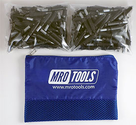 MRO TOOLS K2S150-5/32 Standard Plier Operated Cleco Fasteners 150 Piece Kit w/ Carry Bag