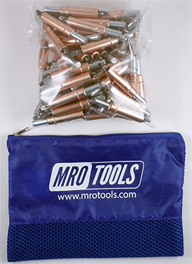 MRO TOOLS K2S100-1/4 Standard Plier Operated Cleco Fasteners 100 Piece Kit w/ Carry Bag