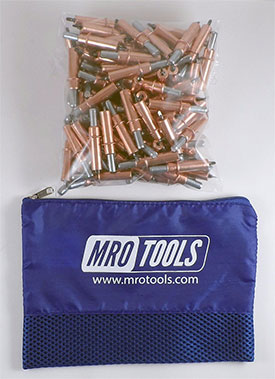 MRO TOOLS K2S100-1/8 Standard Plier Operated Cleco Fasteners 100 Piece Kit w/ Carry Bag