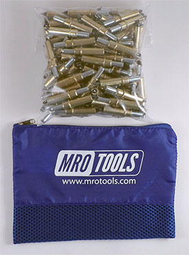 MRO TOOLS K2S50-3/16 Standard Plier Operated Cleco Fasteners 50 Piece Kit w/ Carry Bag