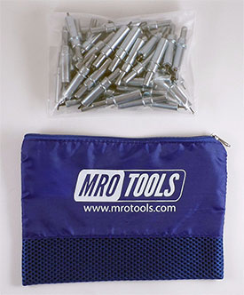 MRO TOOLS K2S50-3/32 Standard Plier Operated Cleco Fasteners 50 Piece Kit w/ Carry Bag