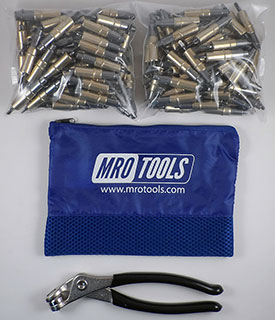 MRO TOOLS KHD1S250-3/16 Heavy Duty Plier Operated Cleco Fasteners 250 Piece Kit w/ Cleco Pliers & Carry Bag