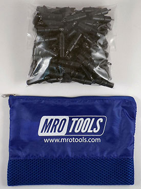 MRO TOOLS KK2S100-5/32 Extra Short Plier Operated Cleco Fasteners 100 Piece Kit w/ Carry Bag