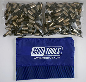 KK2S150-3/16 Set of 150 3/16 Extra Short Plier Operated Cleco Fasteners w/ Polyester Carry Bag