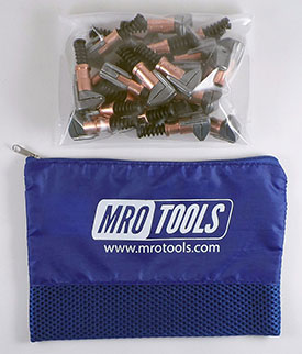 MRO TOOLS KSG1S25 Cleco Side-Grip Clamps 25 Piece Kit w/ Carry Bag, 1/2 x 1/2